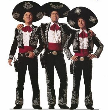 The Three Amigos! starring Steve Martin, Chevy Chase, and Martin  